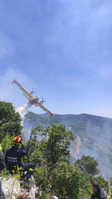 šumski požar uz prugu 28.6.2021